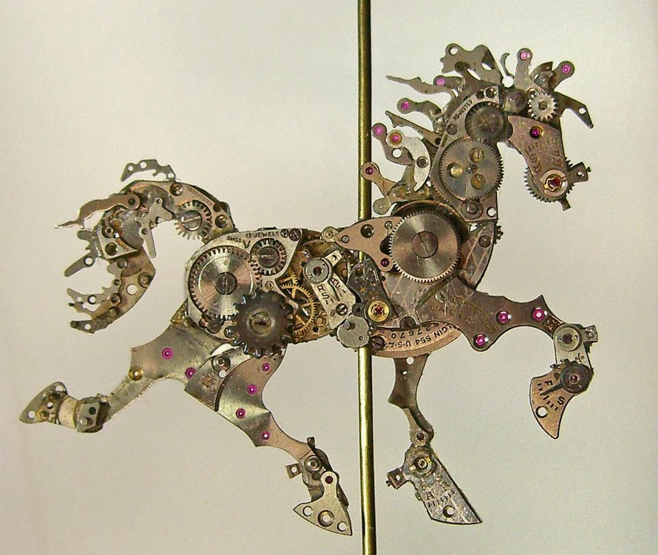 06-Horse-Recycled-Watch-Sculptures-Steampunk-Susan-Beatrice-All-Natural-Arts-www-designstack-co