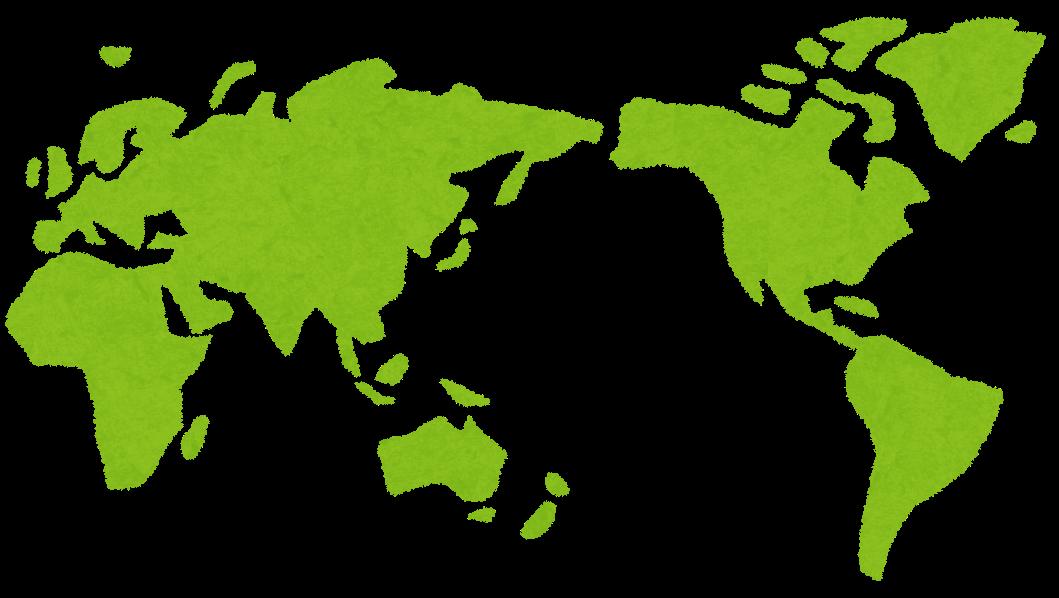 世界地図のイラスト | かわいい ...