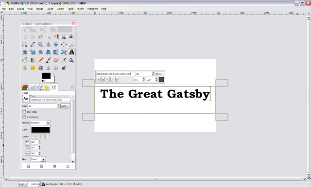 Basic GIMP text how-to