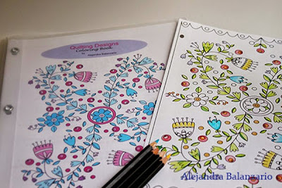 Coloring Book for Adults, Quilting Designs