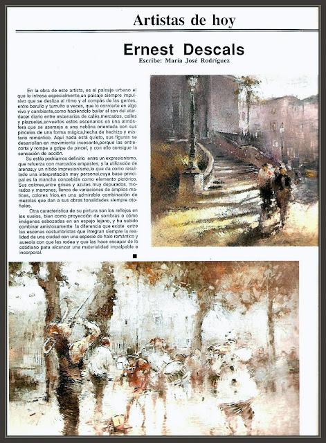 CORREO DEL ARTE-REVISTAS-PINTURA-ARTISTAS-ARTE-MADRID-ERNEST DESCALS-PINTOR-