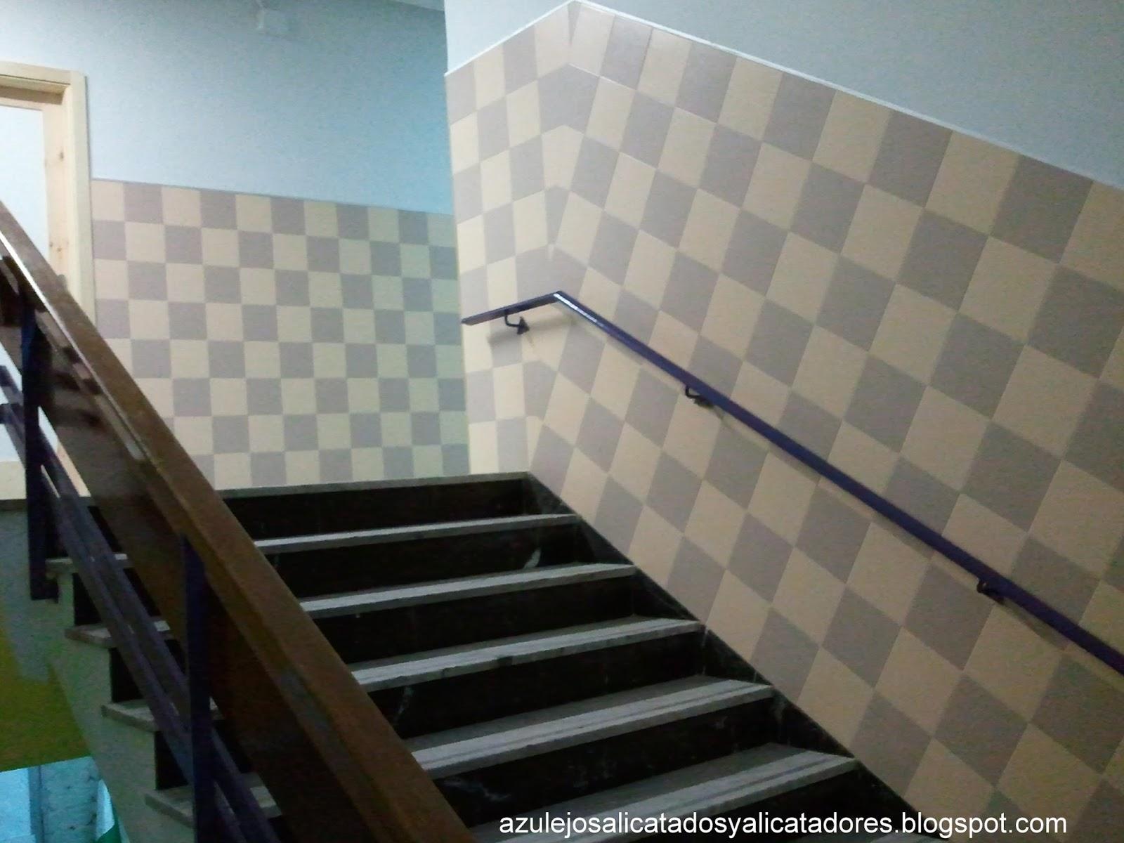 Azulejos alicatados y alicatadores trazado abanico de for Trazar una escalera