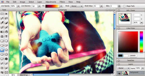 Edit Foto Online Dengan Sumo Paint