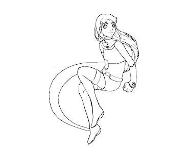 #7 Starfire Coloring Page