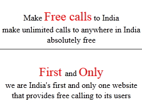 Free Calling anywhere in India