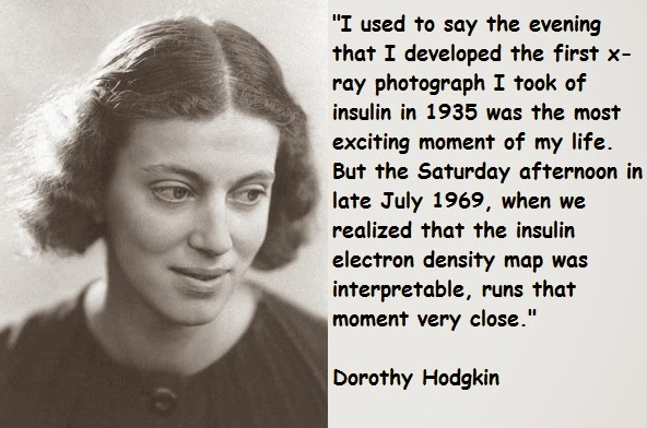 dorothy hodgkin Dorothy hodgkin was an x-ray crystallographer whose scientific career began in  the 1930s and finished in the 1990s her research had a deep.