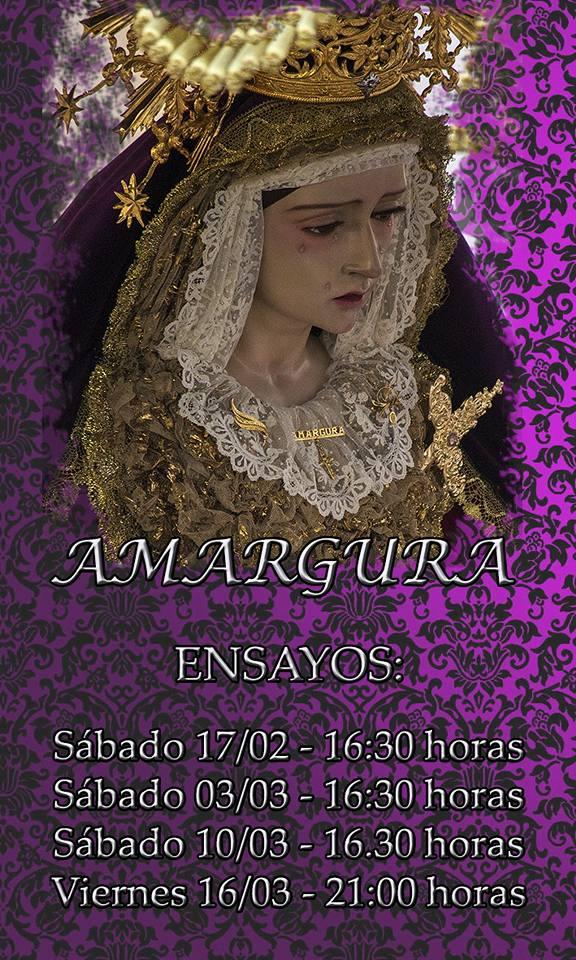 HORARIOS ENSAYOS AMARGURA 2018