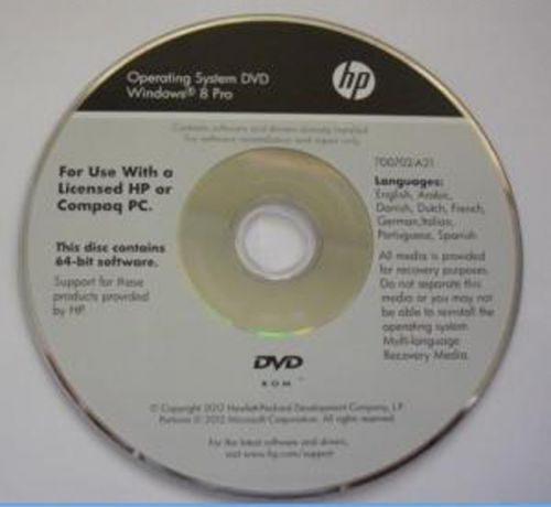 HP Windows 8 Pro 64-bit Multi OEM DVD | 4.42 GB