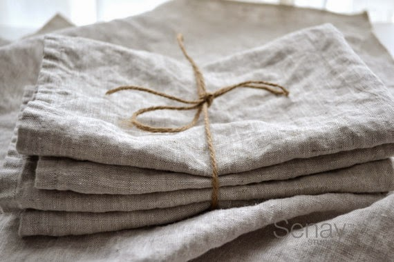 washed linen napkins; natural gifts