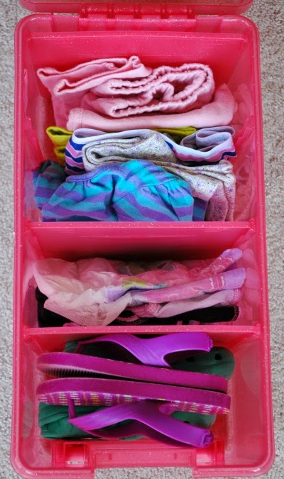 Ditch the Diaper Bag-- Organizational System for Baby and Kid Supplies