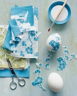 Ovos de Páscoa decorados com decoupage