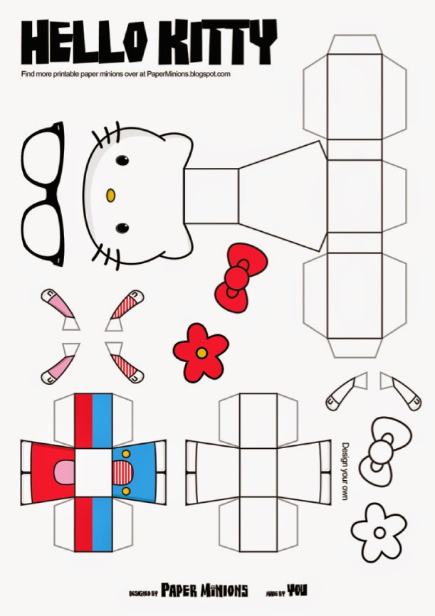 It is an image of Crush Paper Toys Templates