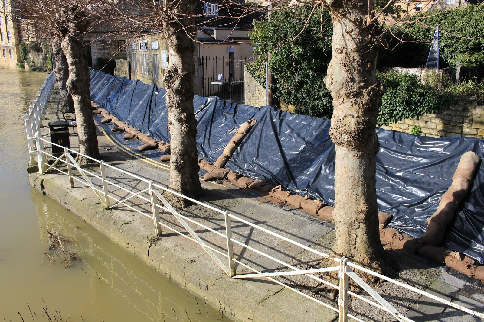 Flood defences, Bradford on Avon