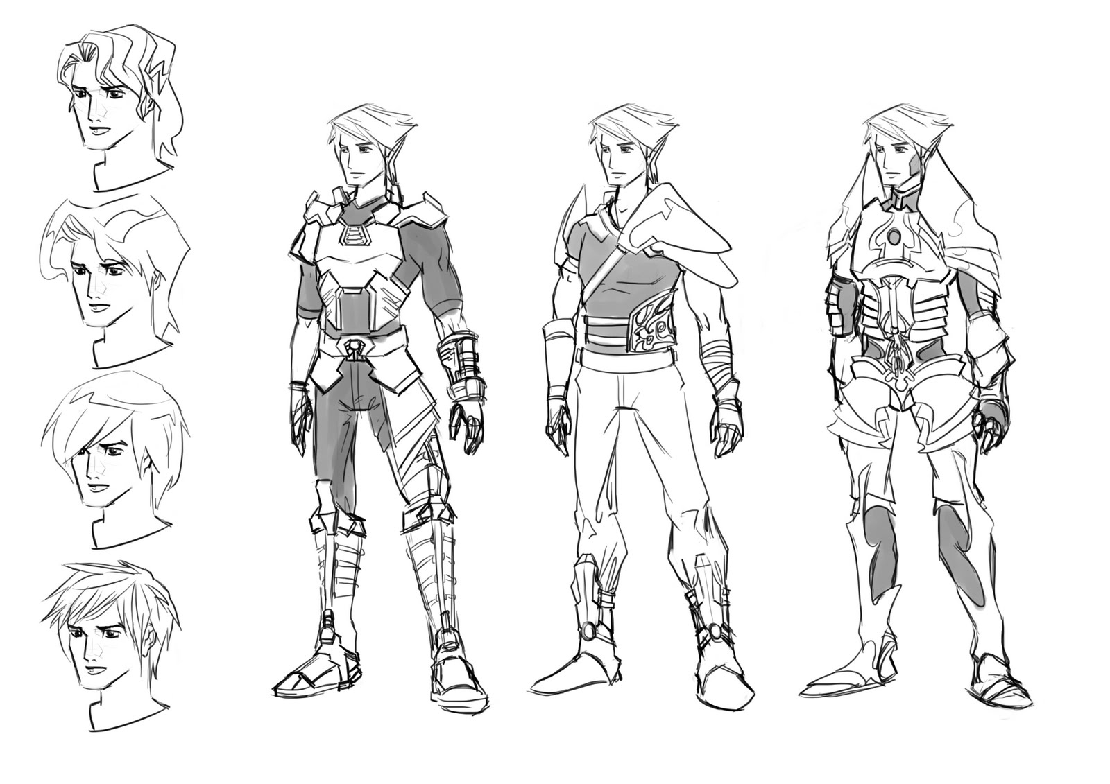Character Design Side View : World of uzaki d character