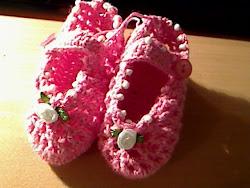 sapatinhos em crochet