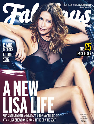 Lisa Snowdon sexy in Fabulous Magazine 20th September 2015 cover