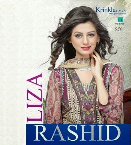 Rashid Liza Krinkle Lawn Chiffon Vol-4-14