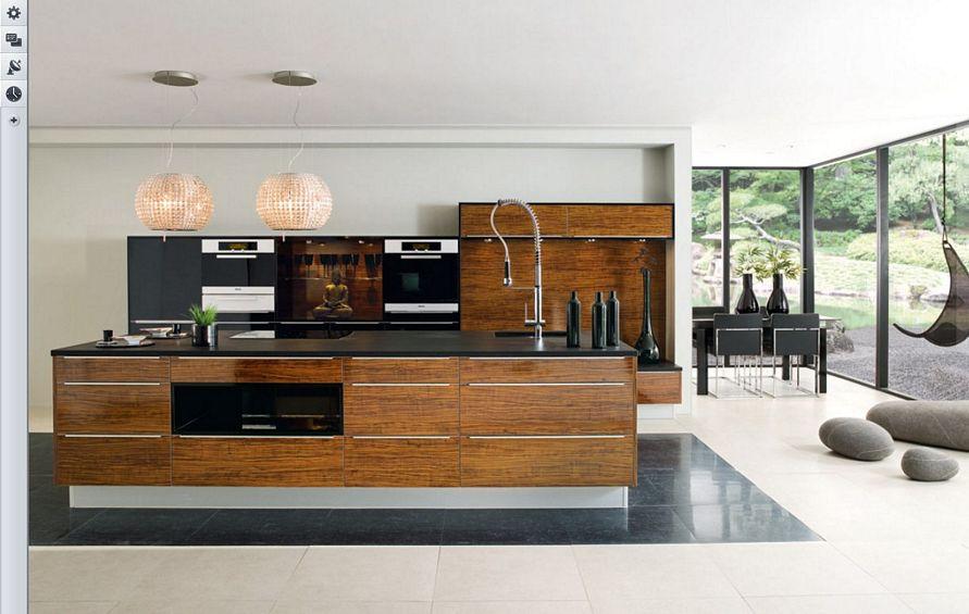 mengatur interior desain dapur rumah mewah terlihat bagus