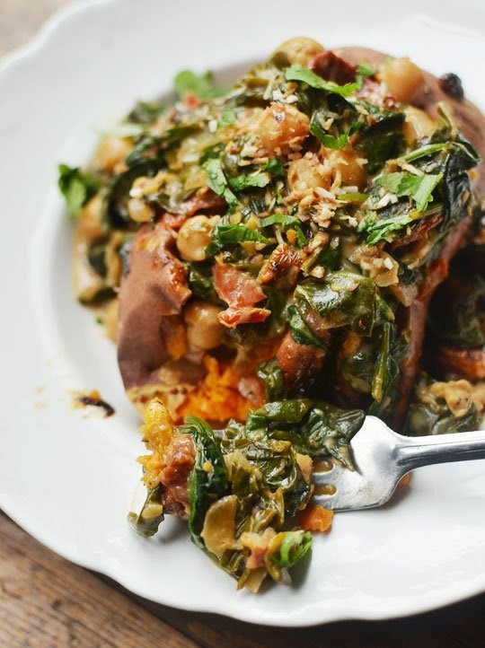 Braised Coconut Spinach & Chickpeas with Lemon | Boy Meets ...