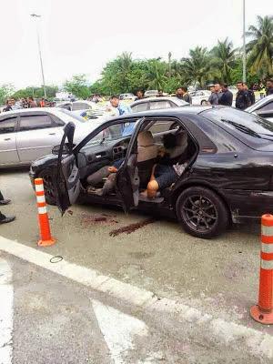 gambar kereta milik penjenayah Kes Berbalas Tembakan Di Lebuhraya Duke