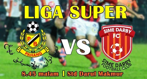 Siaran Langsung Pahang vs Sime Darby Liga Super 19 April 2014