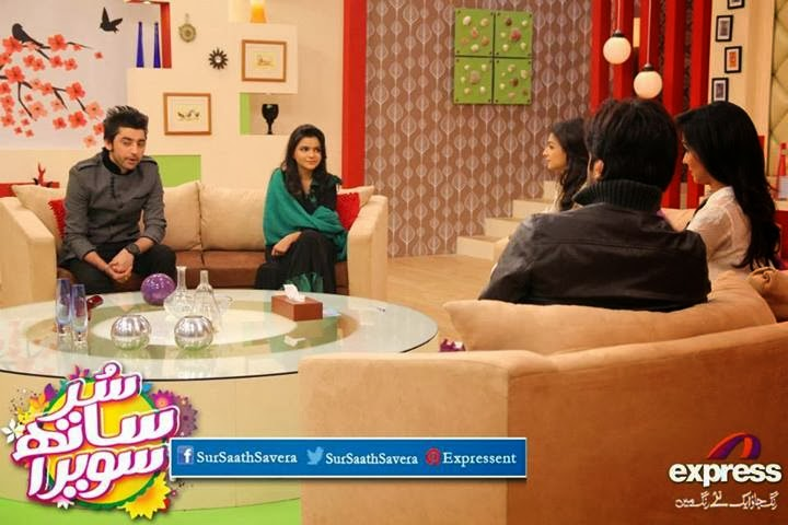 Amanat Ali And Maria Meer in Good Morning Show - Sur Saath Savera