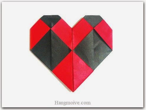 Cách gấp, xếp hình hai trái tim bằng giấy origami - Video hướng dẫn xếp hình trái tim quà tặng - How to fold two heart