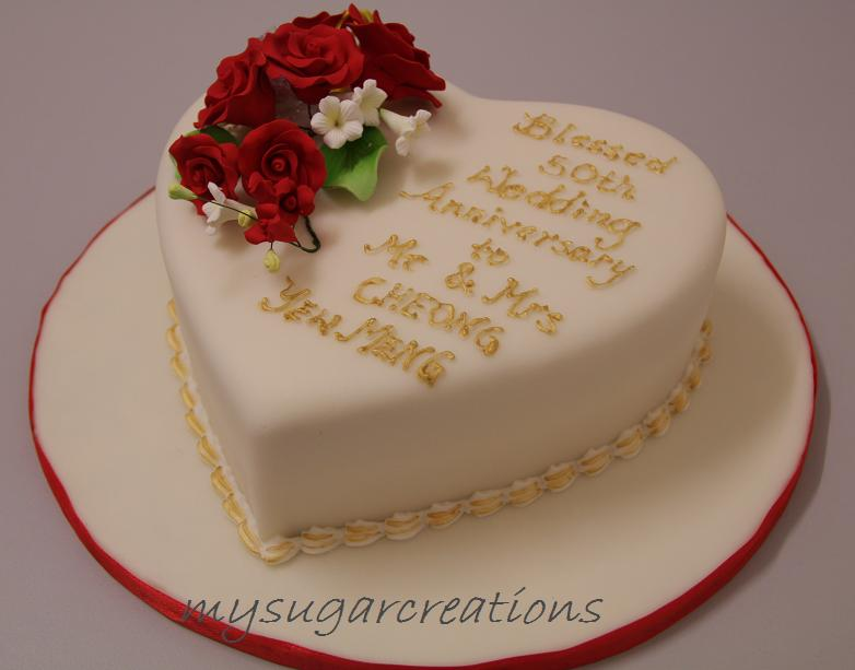 Beautiful wedding cake for a celebration: 16th wedding anniversary ...