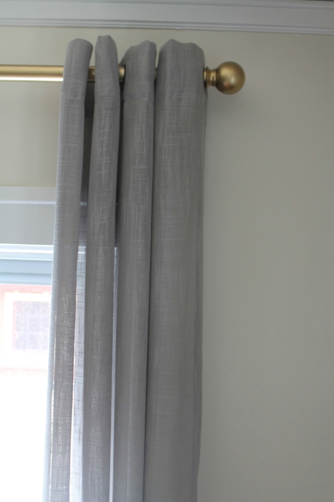gold curtain rod oversized had initially planned to do glossy finish on top of the gold metallic paint really make it pop but in end decided against and love bloom how to spray painting curtain rods
