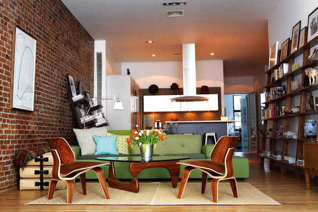 Designklassiker: Eames Chair kombiniert mit Coffee Table von Isamu Noguchi, Vitra