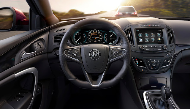 Interior view of 2016 Buick Regal GS