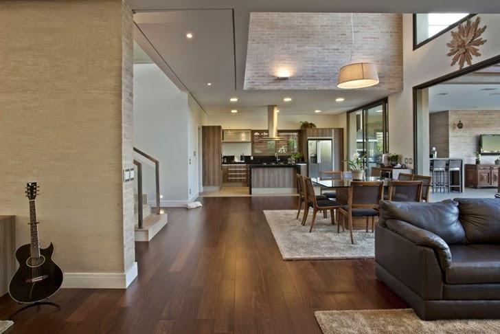 Casa brasileira com arquitetura e decora o moderna for Como e living room em portugues
