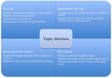 political oppositions abortions essay Abortion defines the political parties very large majorities also oppose second- and third-trimester abortion and support the 2003 federal law photo essays.