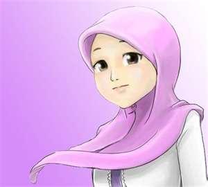 Kumpulan Gambar Kartun Akhwat (Wanita Muslimah) Cantik, Lucu dan Unik