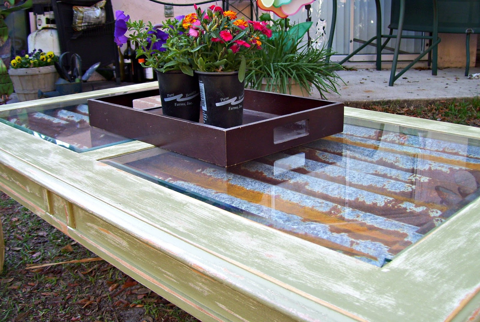 rustic rediscovered coffee table makeover