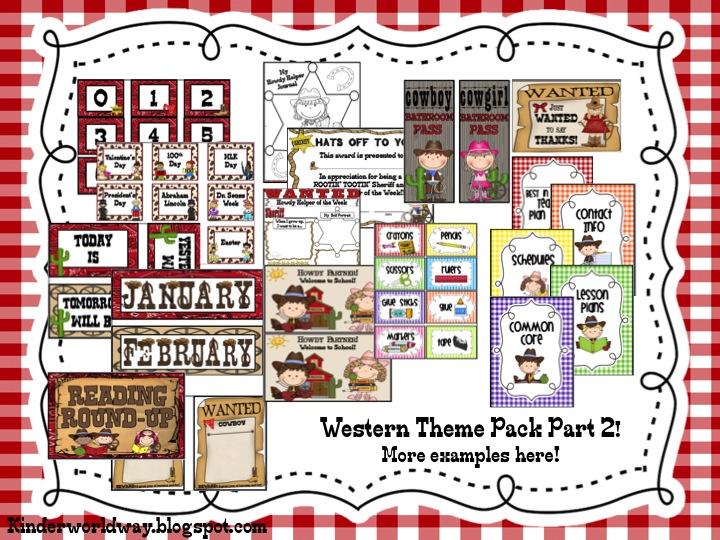 Classroom Decor Packs ~ Kinderworld western theme classroom decor packs