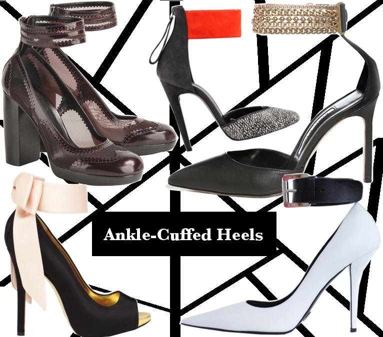 Fall 2013 Ankle-Cuffed Heels Trend
