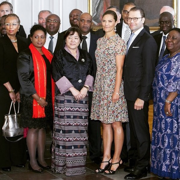 Princess Victoria And Prince Daniel Met With UN Ambassadors