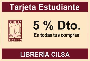 Tarjeta Estudiante 5% de descuento, de Libreria Cilsa.