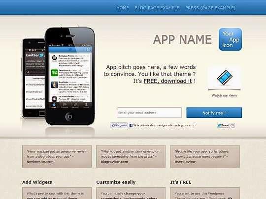 Apptamin A theme - Free Wordpress Theme