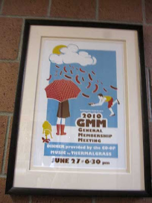 GMM poster with umbrellas, serigraph, colorful