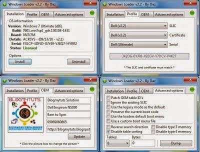 Windows 7 Loader Version 2.2 By Daz 100% working Free Download