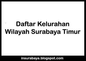 Daftar Kelurahan Wilayah Surabaya Timur, Daftar Desa Wilayah Surabaya Timur, Pembagian Kelurahan Wilayah Surabaya Timur, Desa dan Kelurahan di Wilayah Surabaya Timur