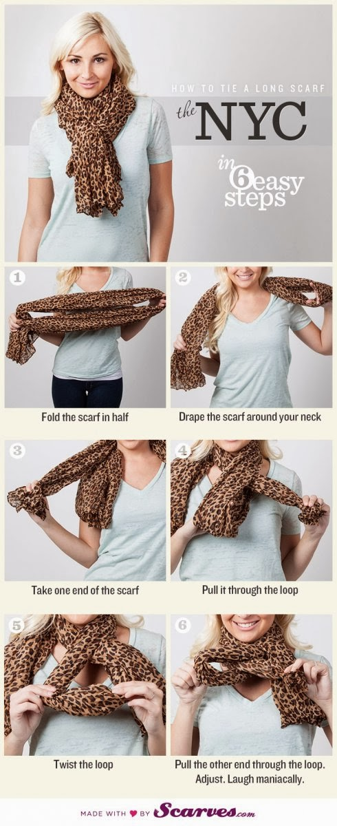 How to Tie a Long Scarf - In 6 easy Steps