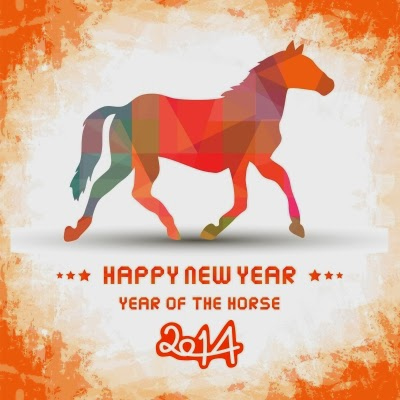 chinese new year horse 2014 image