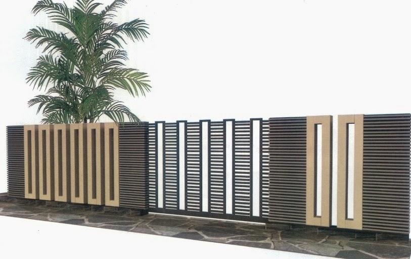 desain pagar minimalis unik dan keren jaya mulya