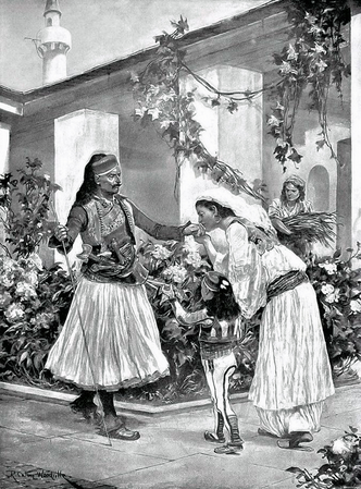 Her Lord and Master, a Scene in a North Albanian House