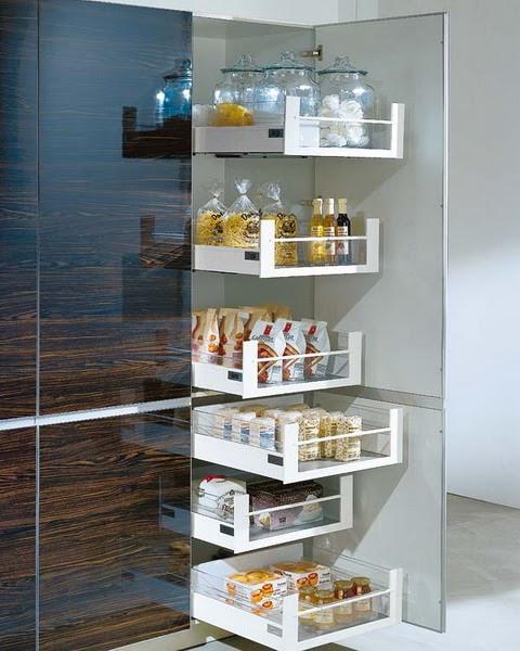 Decorando mejor estantes y cajones de cocina ideas de - Almacenaje de cocina ...