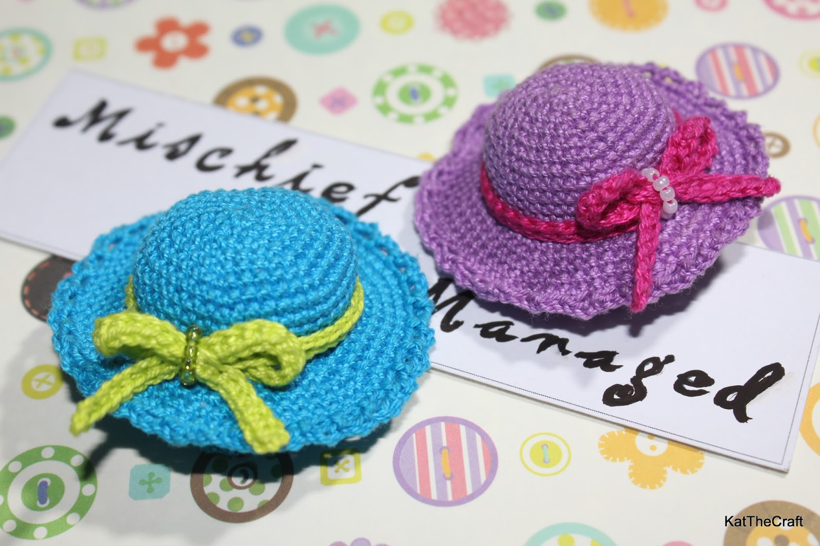 So Many Things to Do, So Little Time: Crochet Mini Hat Hairclip ...