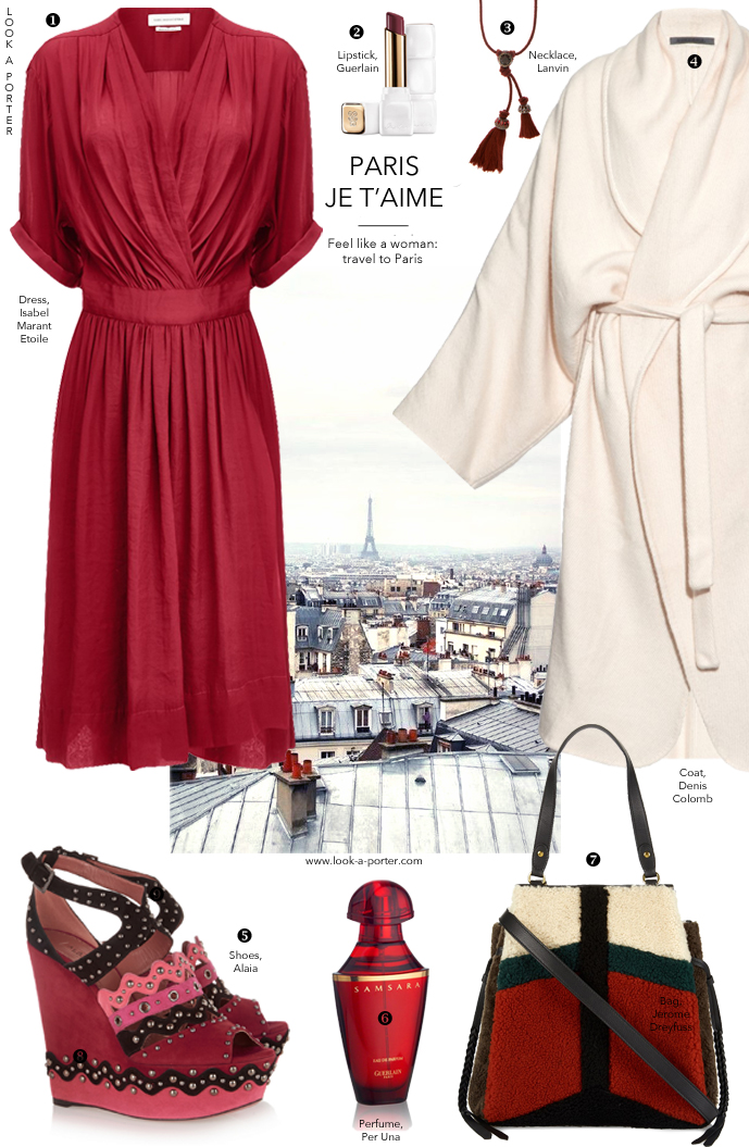 Feminine and cosy, a little bohemian, a little 1970s, a little {thought} provoking... Parisian style outfit inspiration via www.look-a-porter.com style & fashion blog